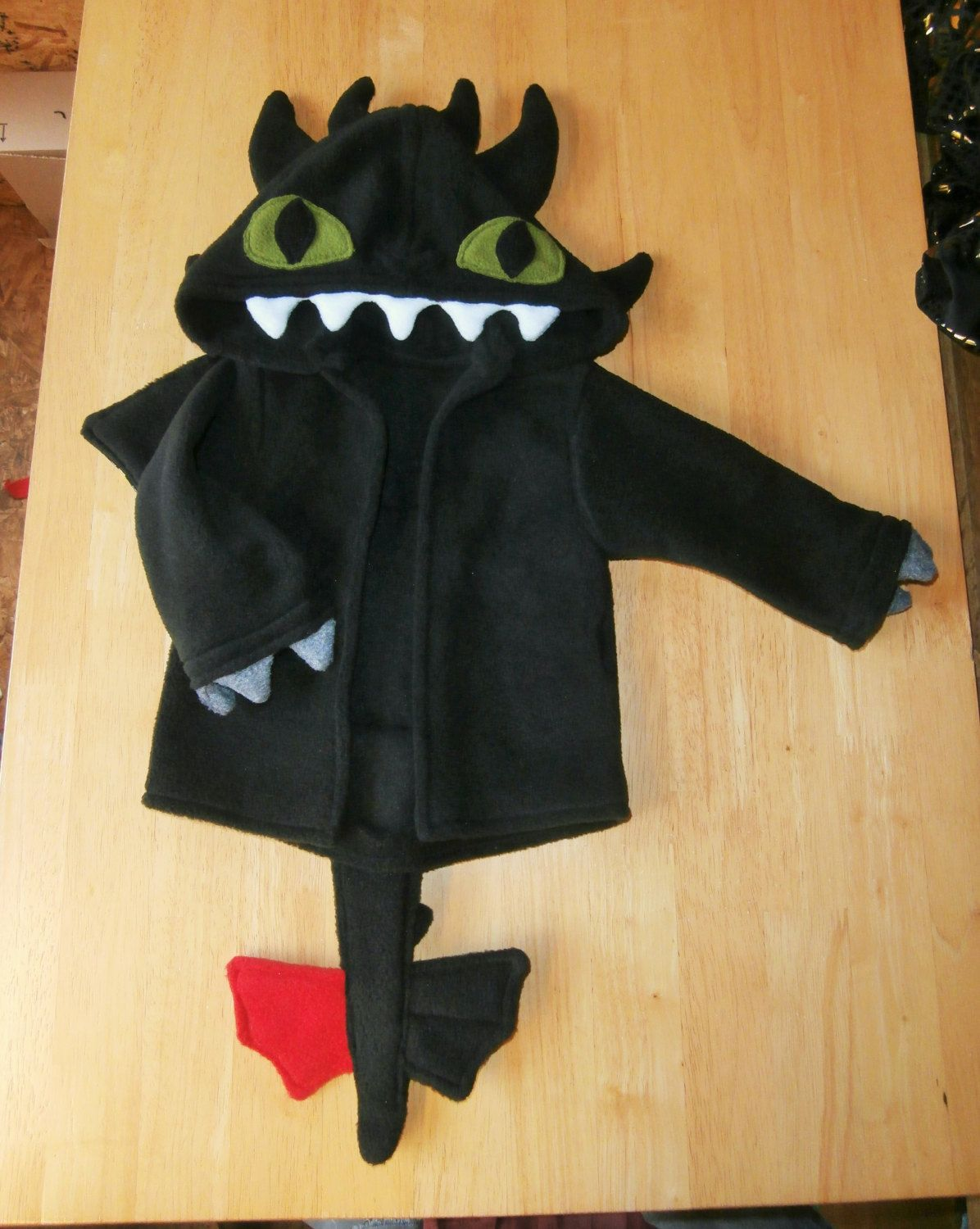 Baby toothless style dragon hoodie how to train your dragon baby toothless style dragon hoodie how to train your dragon fancy dress costumehooded jacket spikes eyes claws wings tail ccuart Image collections