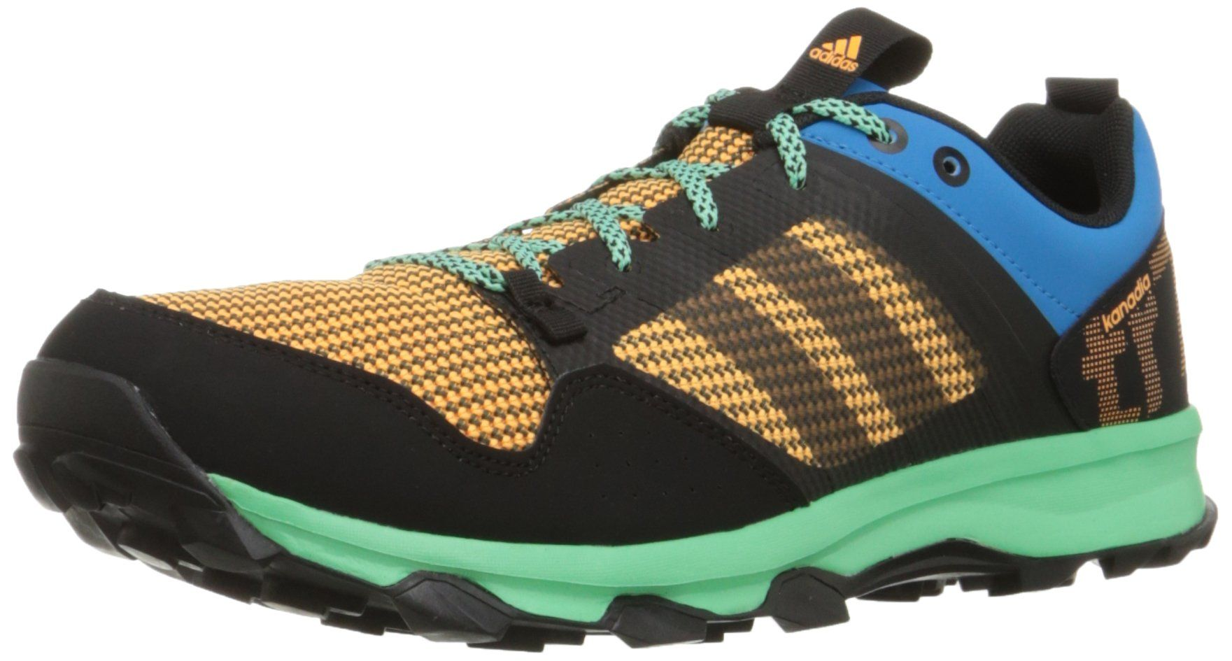 adidas Performance Men's Kanadia 7 TR M Trail Running Shoe,Solar Blue/Black/ Gold,8.5 M US. Lace-up trail running shoe with synthetic overlays, ...