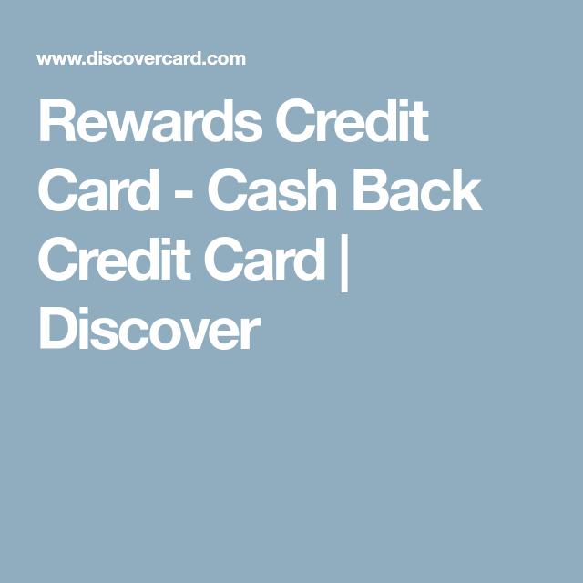 Rewards Credit Card - Cash Back Credit Card