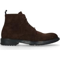 Photo of Brown suede lace-up boots (40,41,42,43,44,45,46) ManfieldManfield