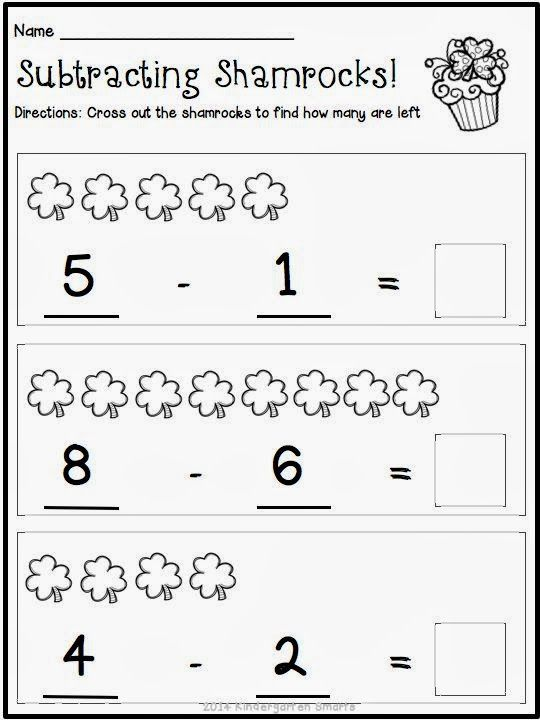 Kindergarten Math Worksheets St Patricks Day With A Freebie With