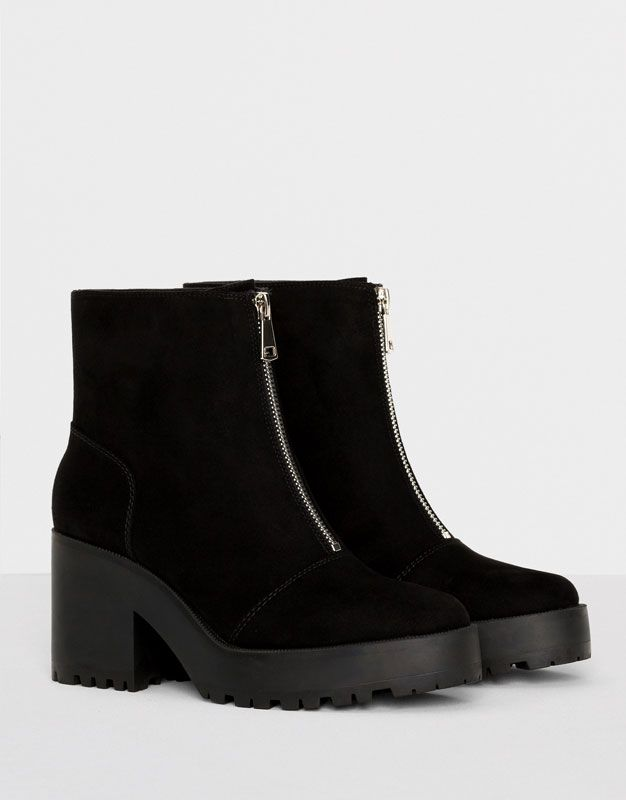 HIGH HEEL ANKLE BOOTS WITH ZIP - WOMEN'S SHOES - WOMAN - PULL&BEAR Serbia