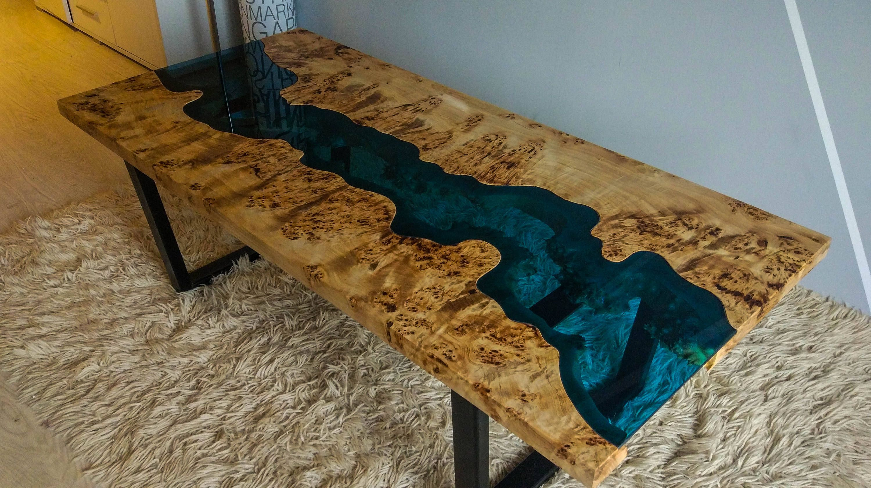 Sold Live Edge Mappa Burl River Coffee Table Sold Stoli