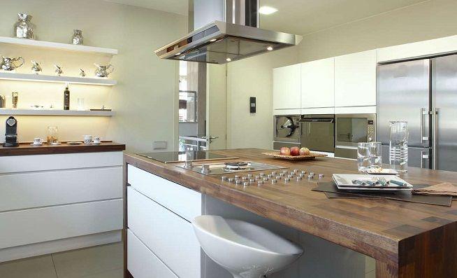 Cómo ampliar visualmente la cocina ef Pinterest La solucion - Cocinas Integrales Blancas