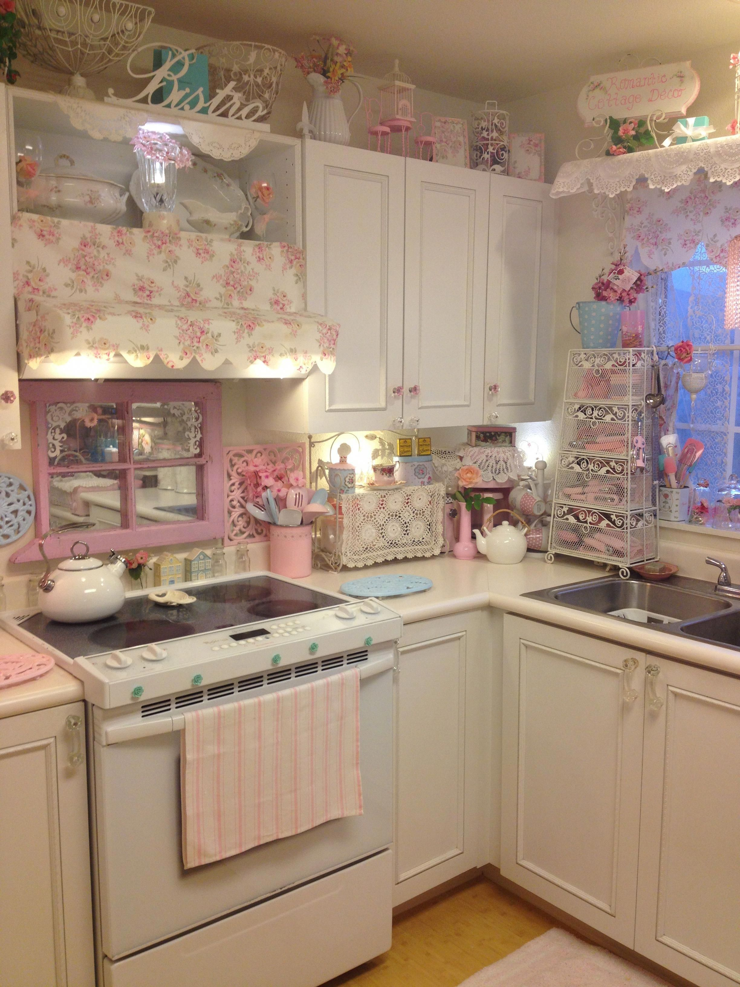 always looking for more pink kitchen aid shabby chic kitchen shabby chic room on kitchen decor pink id=24858