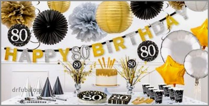 35 Elegant 80th Birthday Decorations Party City