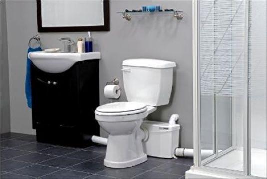 Saniplus Toilet With Macerator Series Pump Basement Bathroom Basement Bathroom Design Bathroom Addition