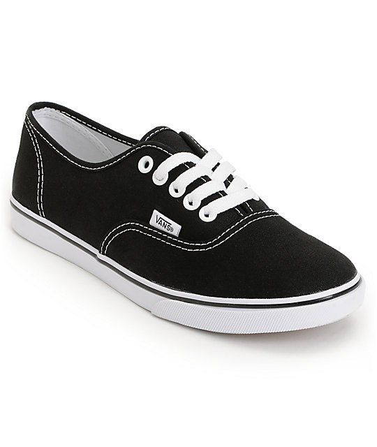 Get back to basics with the timeless Vans Authentic Lo Pro in the black and  white