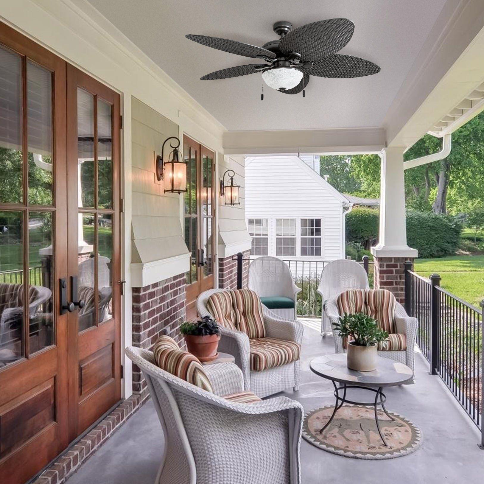 Honeywell Inland Breeze 52 Quot Bronze Outdoor Led Ceiling Fan