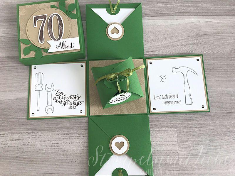 Explosionsbox Zum 70 Geburtstag Stempeln Mit Liebe