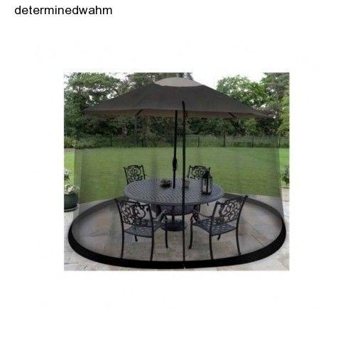 Umbrella Table Screen Room Mesh Patio Porch Bug Enclosure Outdoor  Entertaining