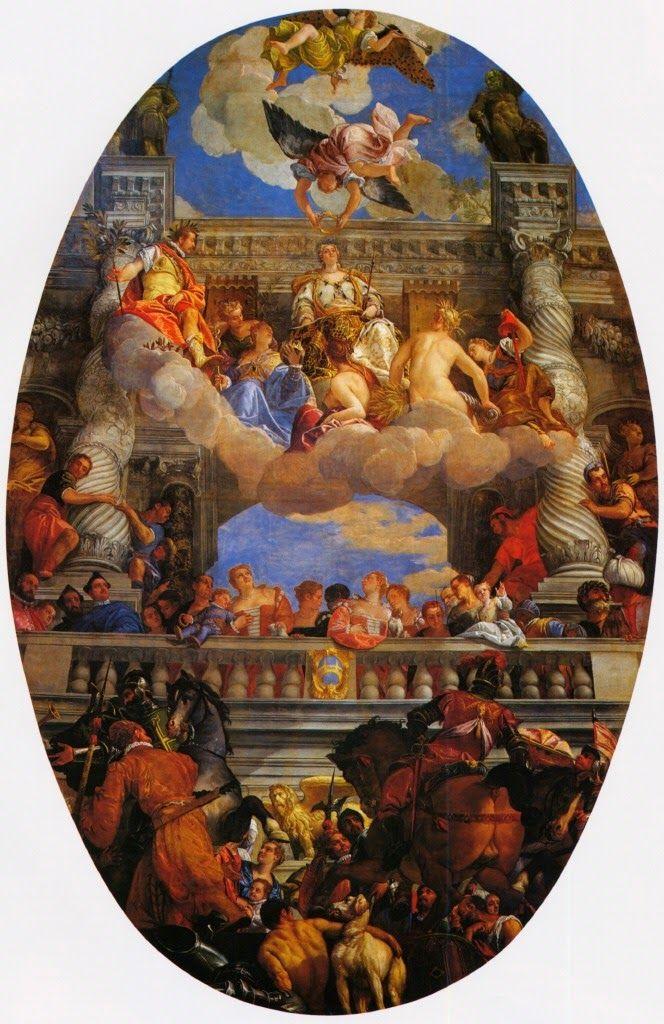 VÉRONÈSE (Paolo Caliari dit, Vérone, 1528 - Venise, 1588), Le Triomphe de Venise, vers 1580,  huile sur toile, 904x580 cm, Salle du Grand Conseil, Palais des Doges, Venise.