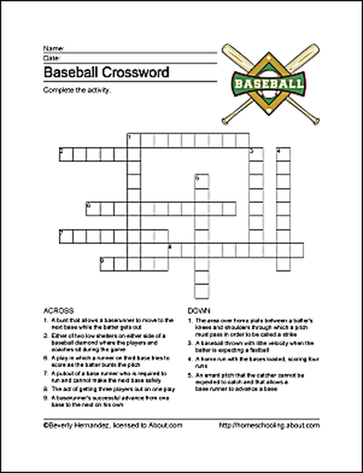 Baseball Printables Worksheets Related To The National Pastime Baseball Printables Baseball Activities Word Puzzles