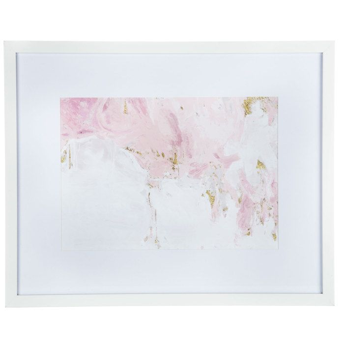 Pink White Gold Abstract Framed Wall Decor In 2020 Frame Wall Decor Frames On Wall Wall Art Decor