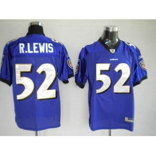 reebok baltimore ravens 52 ray lewis purple stitched nfl jersey
