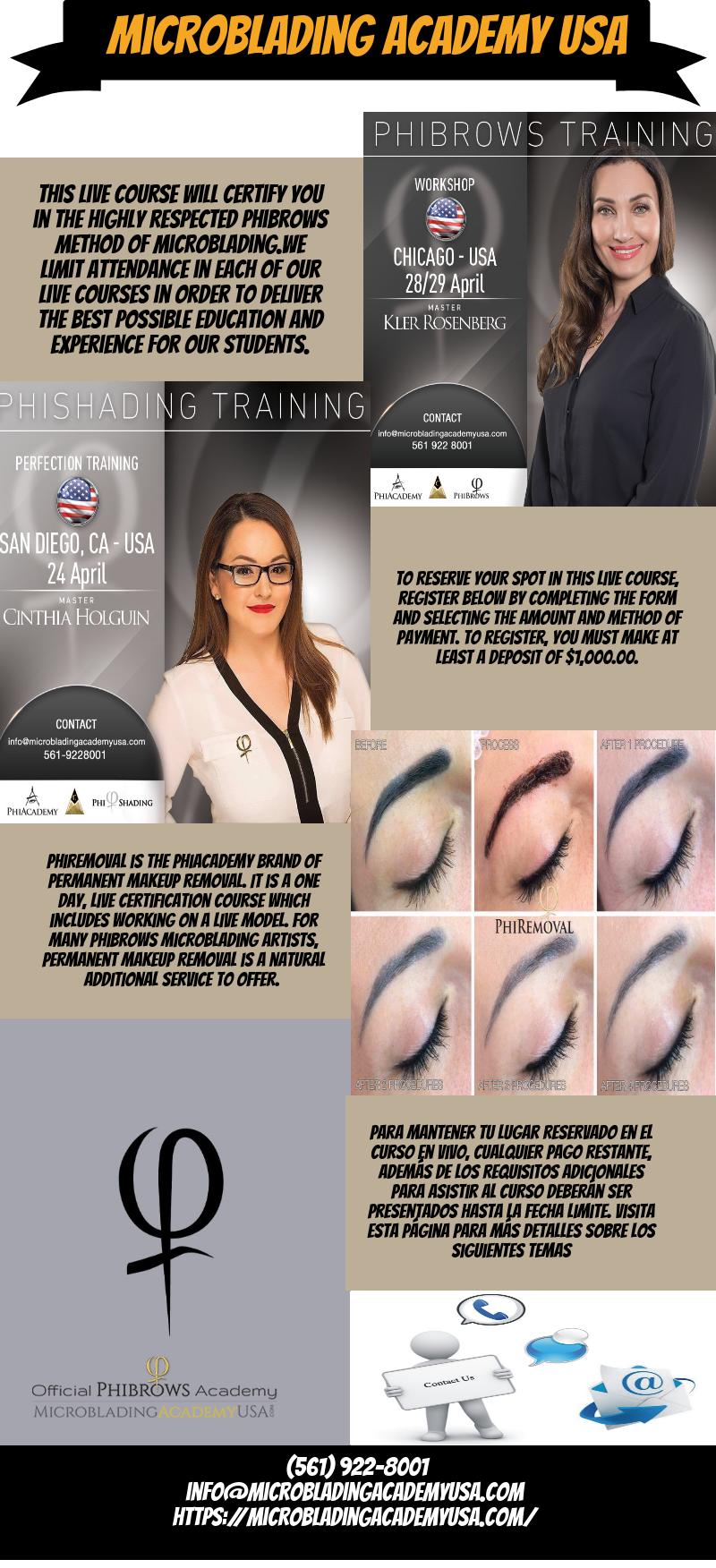 Usa Based Official Phibrows Microblading Academy We Offer