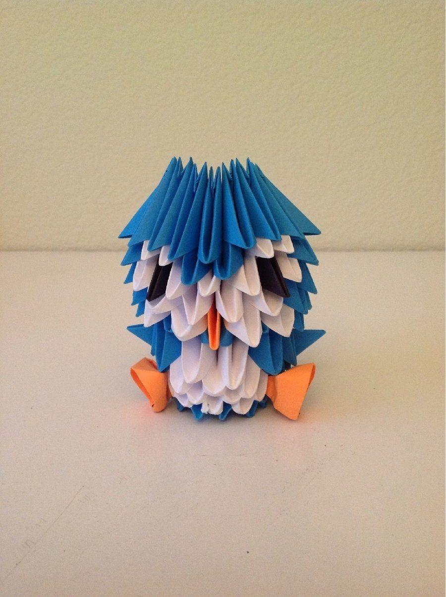 3d Origami Penguin Origami Pinterest 3d Origami Origami And
