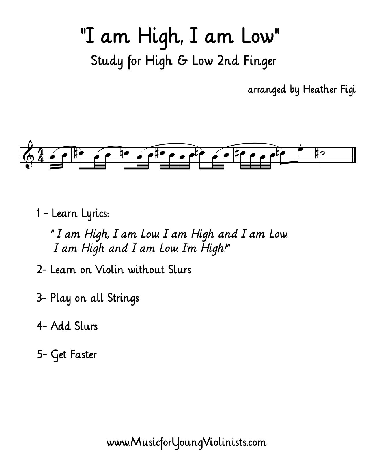 Violin Study This Is A Great Etude For Young Violinists