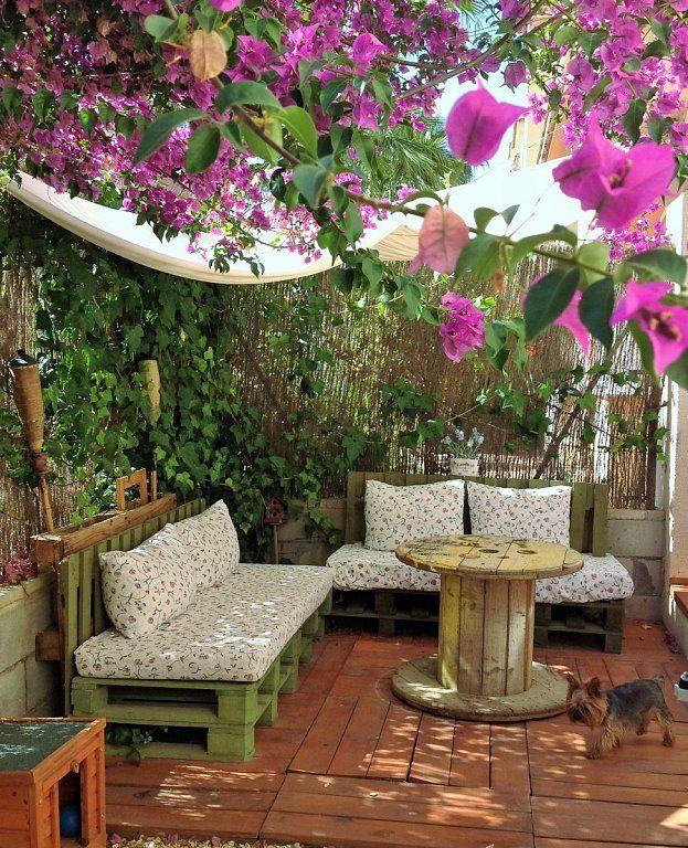 La casa del a o mi jard n lowcost rustic flowers - Ideas para decorar mi jardin ...