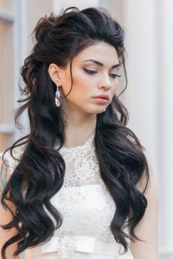 42 Peinados De Novia Con Pelo Suelto Largo Corto O Mediano Joyas