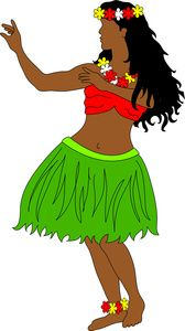hawaiian girls art hula dancer clip art images hula dancer stock rh pinterest com hulu clip art clipart hula hoop