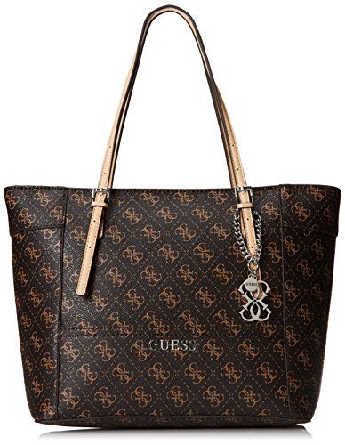 GUESS Delaney Small Classic Tote, Brown GUESS www