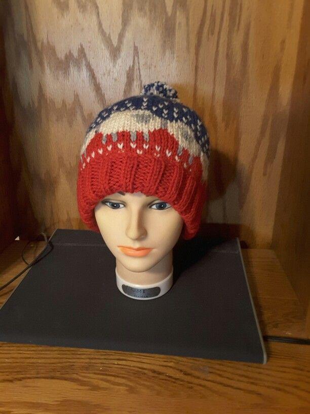 724278e9da0 My hand knit Baa-baa sheep hat