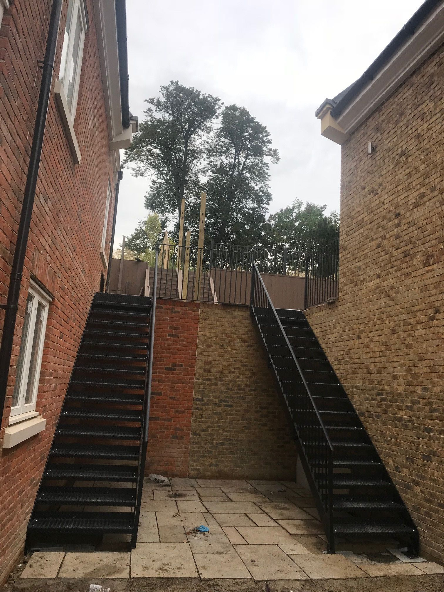 Best External Straight Staircase Staircase Outdoor Exterior 640 x 480