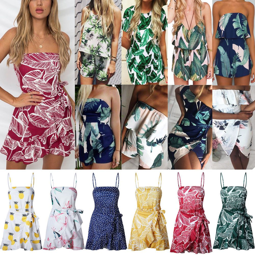 Kids Girls Chains Printed Party Outfit Playsuit Jumpsuit Romper Shorts Summer
