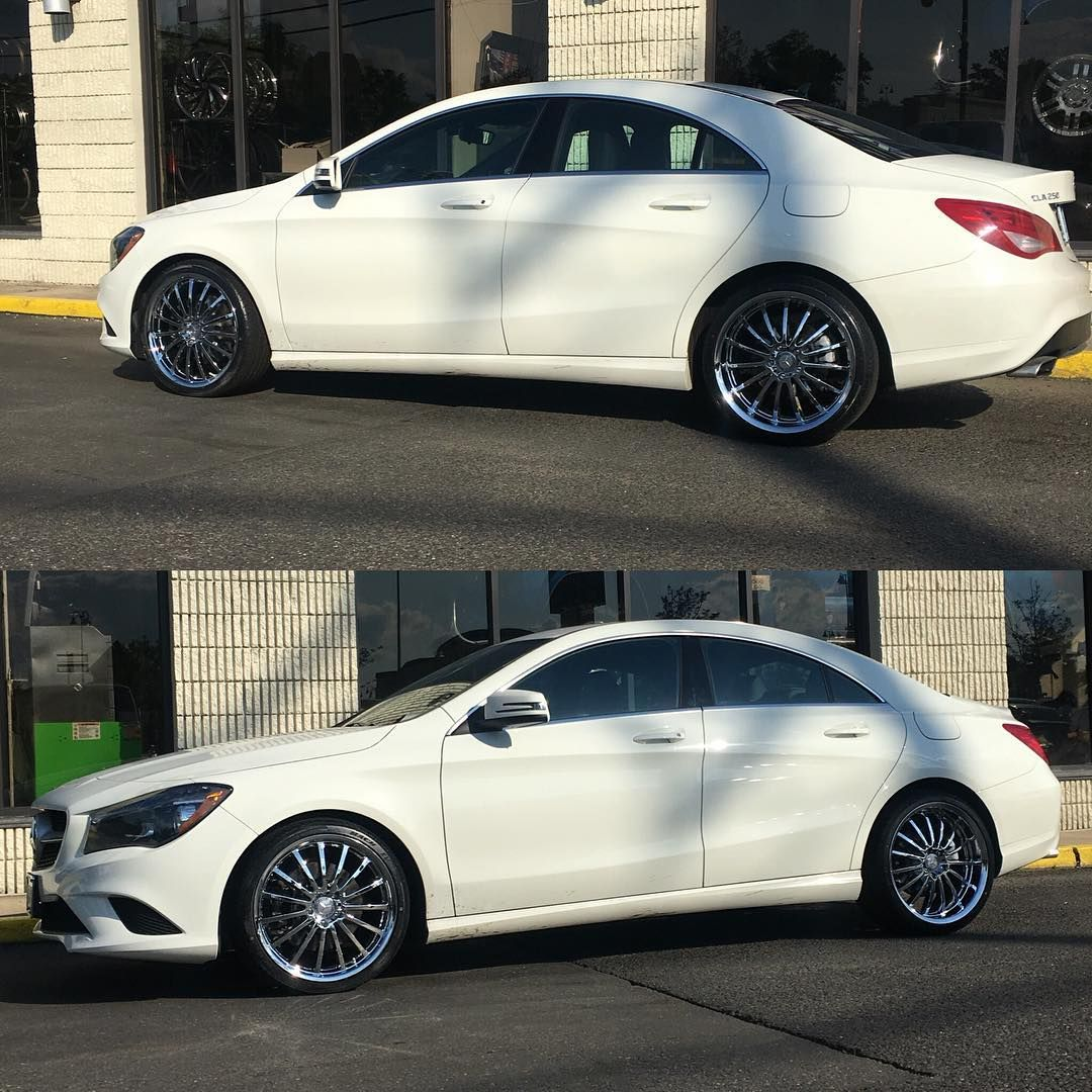 Mercedes Cla 250 With 19 At Mandruswheels Chrome Cla250