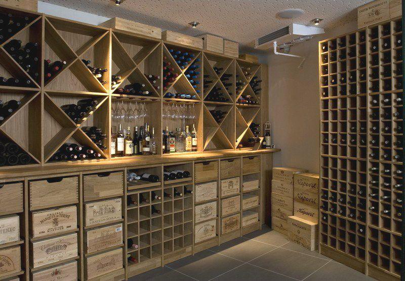 Eiken Modulair Wijnrek Voor In De Wijnkelder Wijnkelder