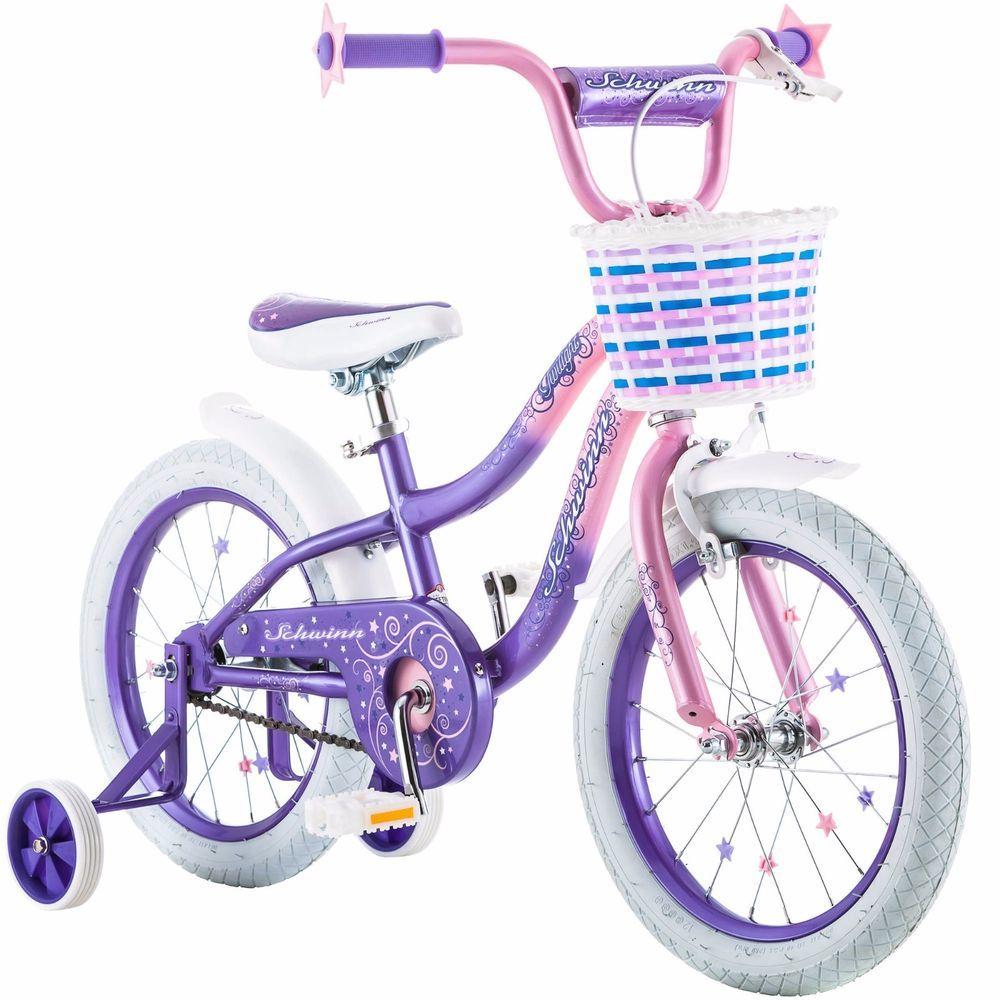 Girls Bicycle Bike Vintage Schwinn S 16 Basket Twilight Girl Pink