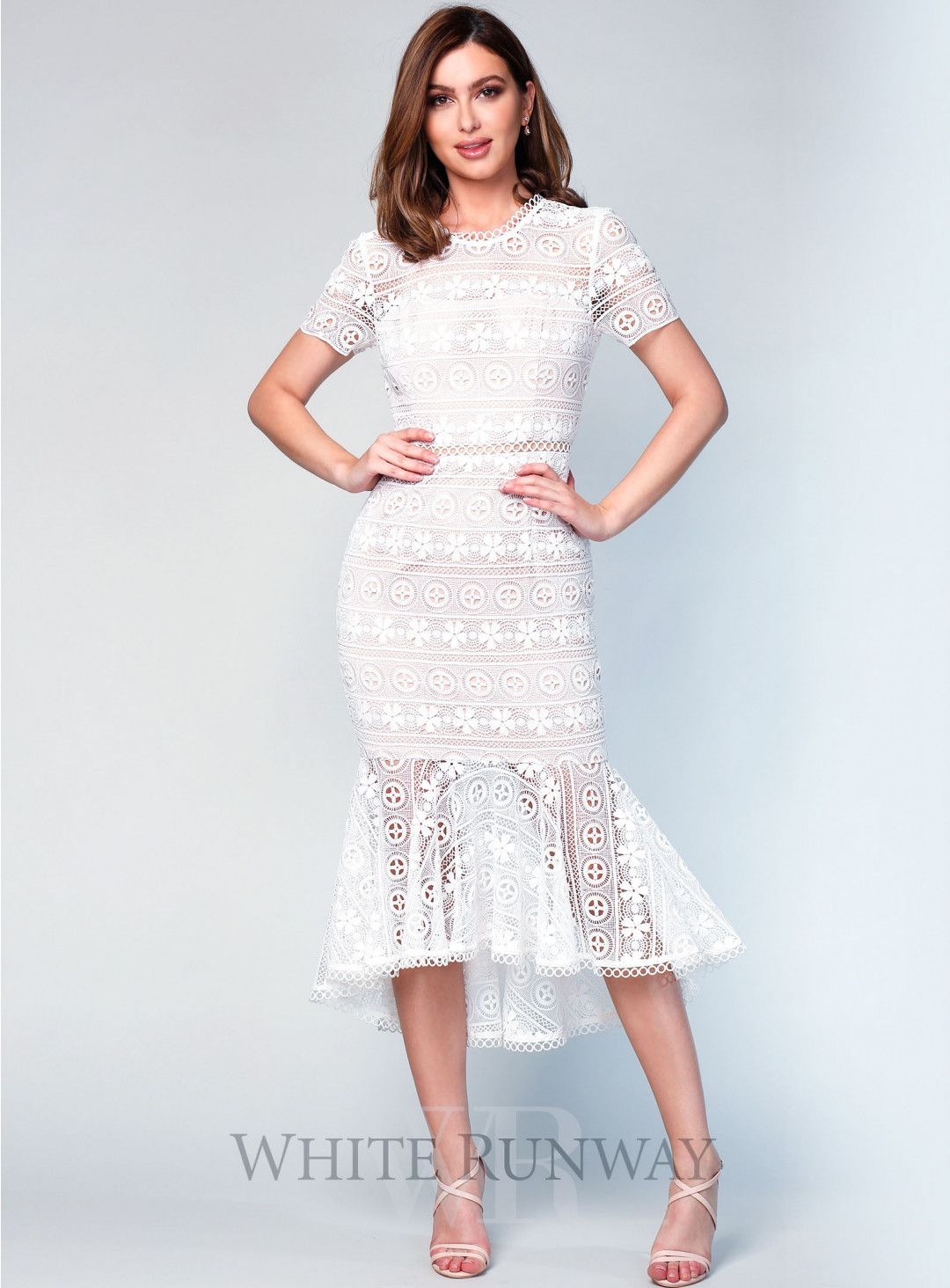 Dress for wedding engagement party  Arabella Lace Dress A stunning midi length dress by Love Honor A
