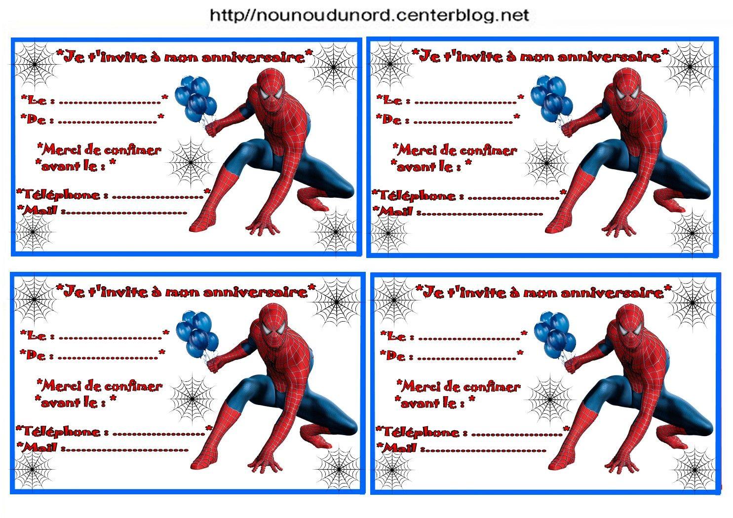 Anniversaire etiquettes invitations spiderman pour http activite anniversaire etiquettes stopboris Choice Image
