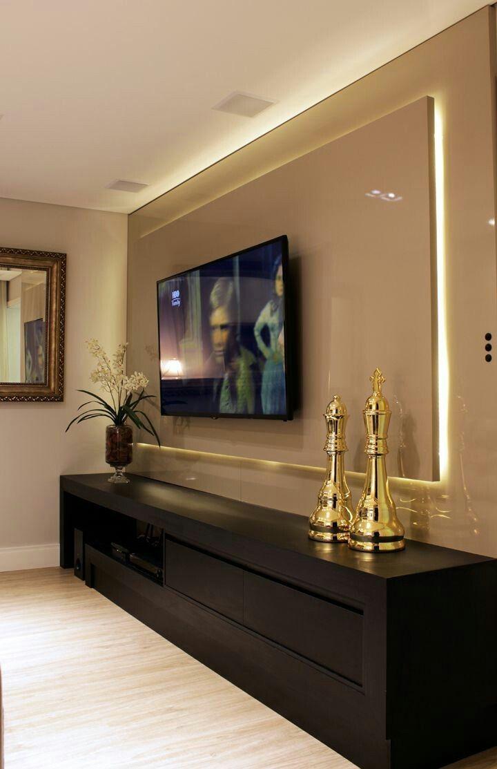 Wohnzimmer des modernen interieurs des hauses muebles de tv  interiors  pinterest  wohnzimmer haus und