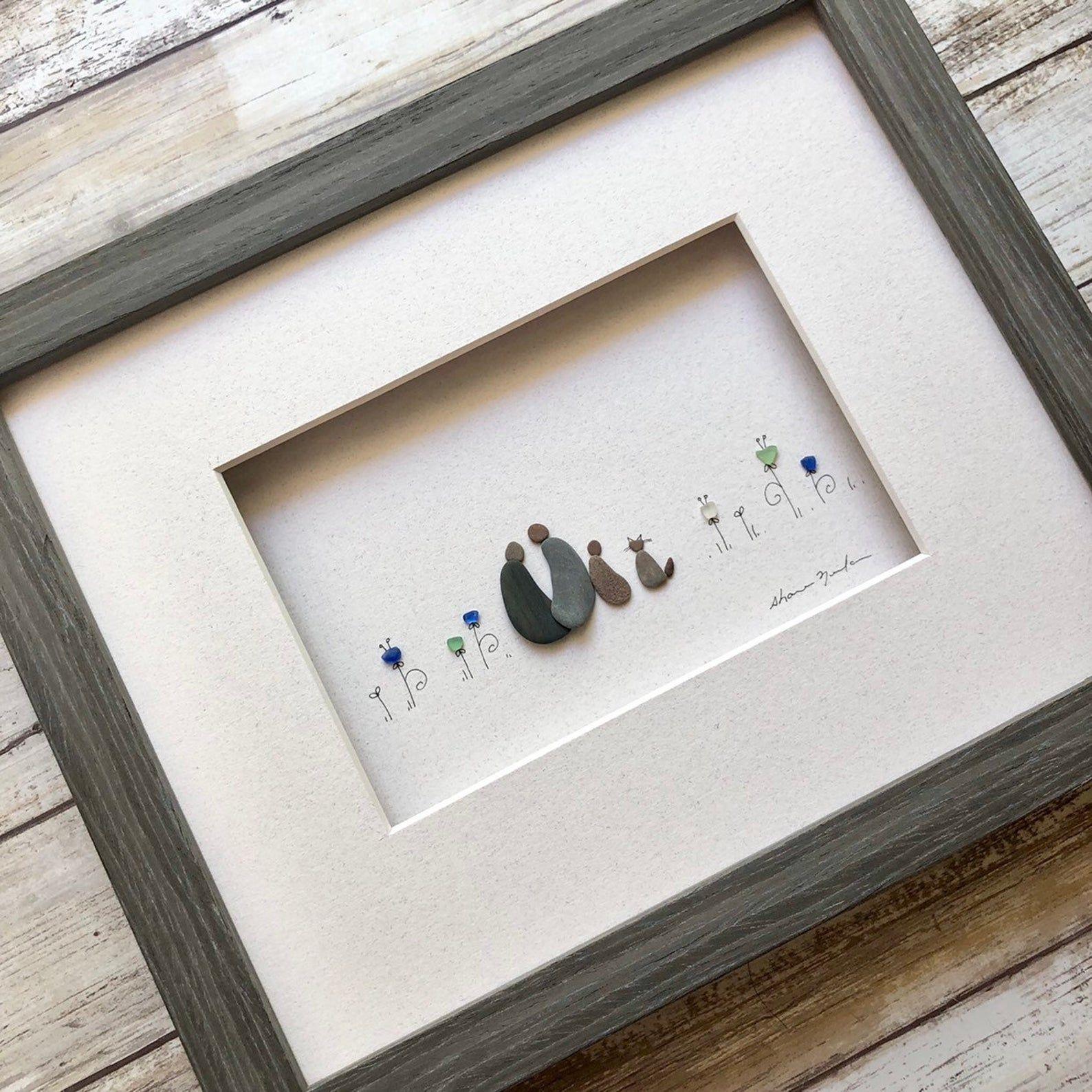 Pebble Art 8 par 10 Sharon Nowlan Original Couple with | Etsy