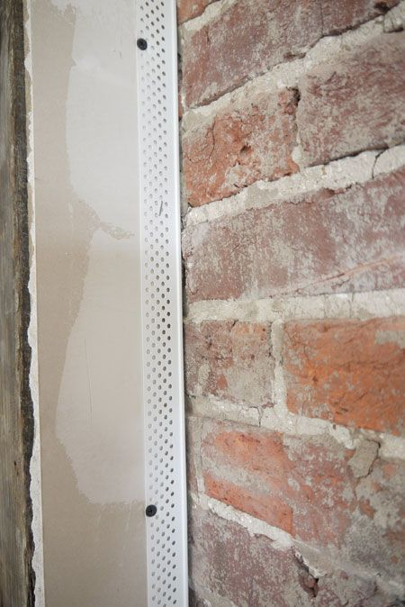 Drywall Finish Against Brick Drywall Finishing Apartment Design Brick