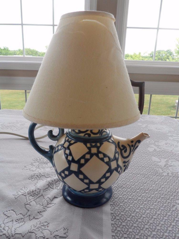Teapot lamp, Candlestick table