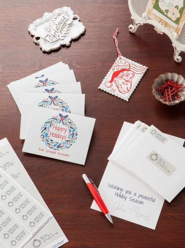 easily personalize your own custom holiday cards for customers