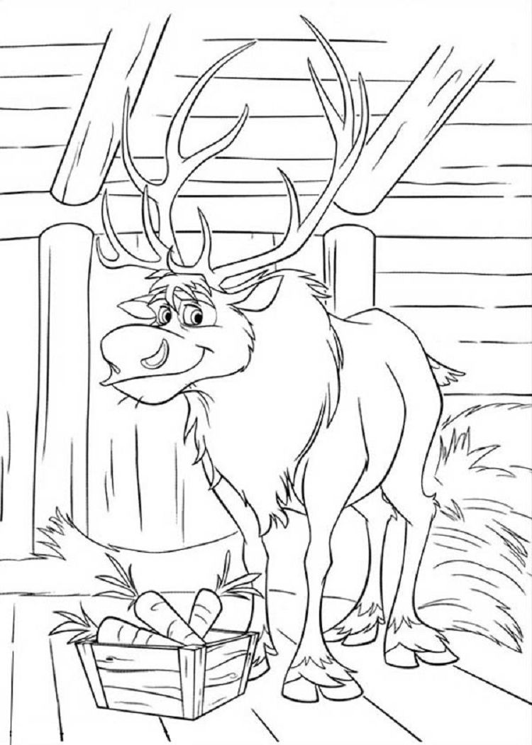 Disney Frozen Sven Coloring Pages Coloring Pages For Kids In 2018 - Frozen-sven-coloring-pages