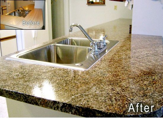 Get The Look: How To Paint Laminate Countertops