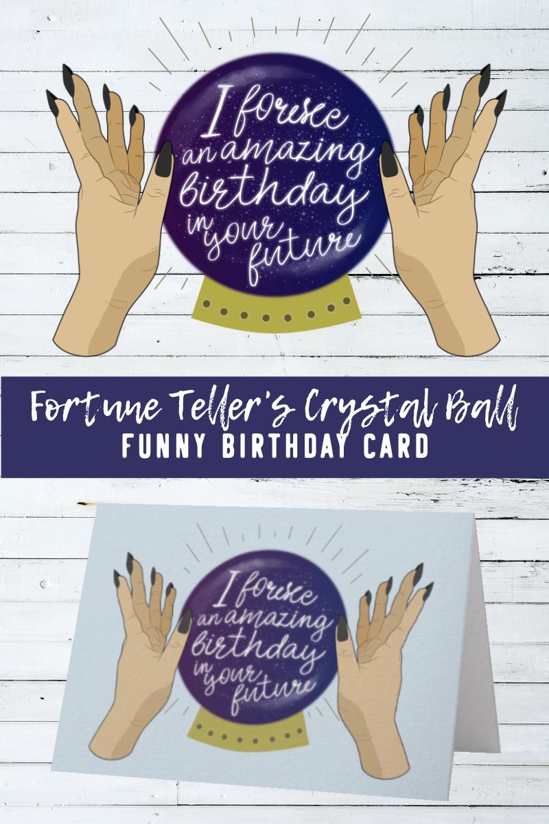 Crystal Ball Fortune Teller Birthday Card | Zazzle com