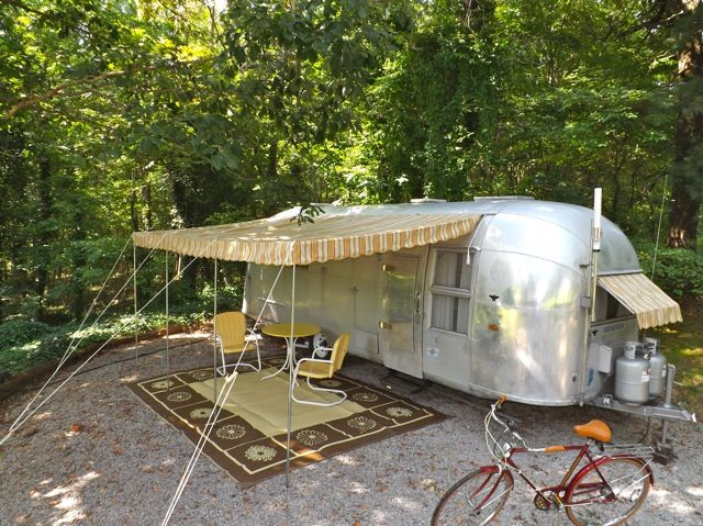 Airstream Awning And Front Clip On Window Dfosterbellsouth Vintage Trailer Awnings