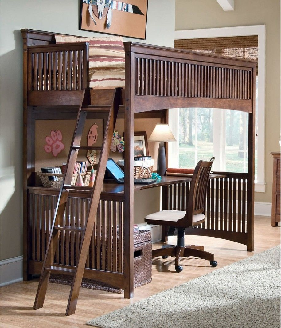 Loft Beds With Desk Underneath Full Size Design Bed 915x1066
