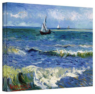Vincent van Gogh 'Seascape At Saintes Maries' Wrapped Canvas Art Stretched Canvas Print at AllPosters.com