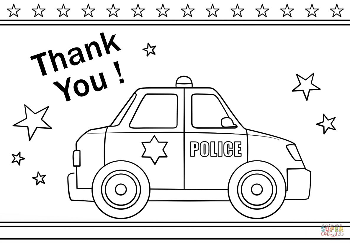 Thank You Police Super Coloring Coloring Pages To Print Coloring Pages Free Printable Coloring Pages