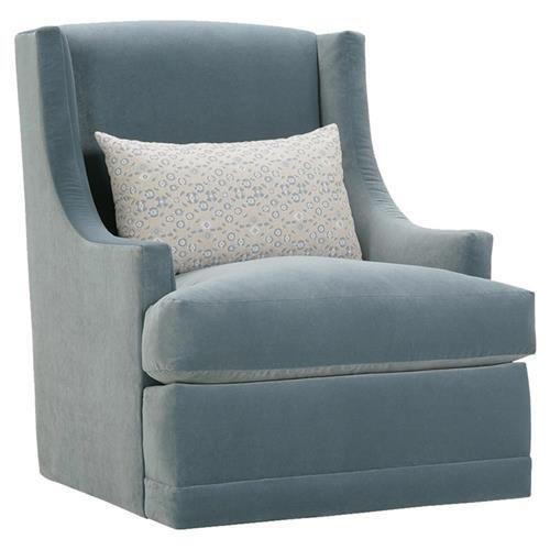 Best Lottie Modern Classic Blue Upholstered Swivel Arm Chair 400 x 300