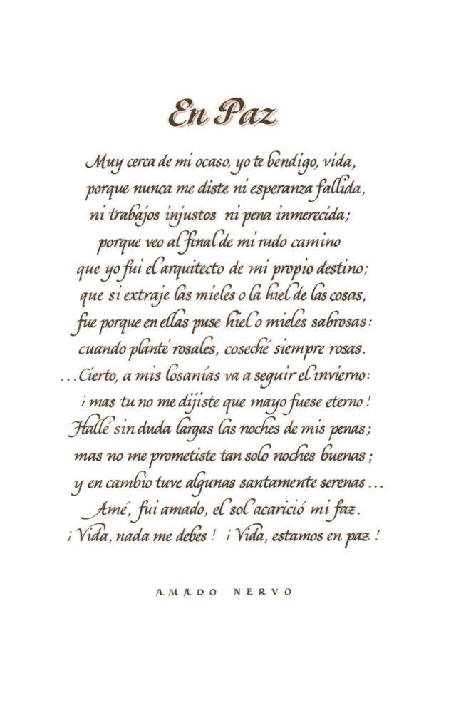 En Paz Amado Nervo Juan Crisóstomo Ruiz De Nervo Amado