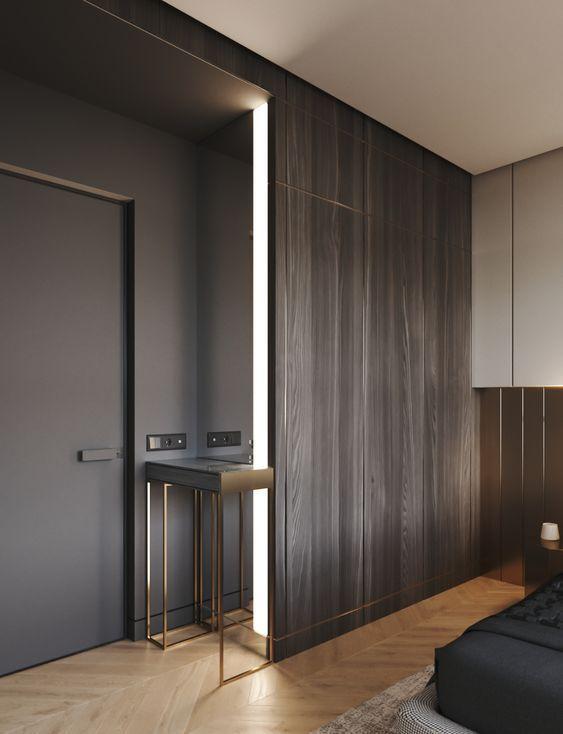 Progettare una cabina armadio in legno filo muro nel 2019 for Progettare una camera da letto