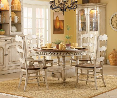 country styleround Wood Dinette Tables and Chairs Summerglen